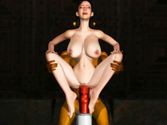 Lusty 3D space woman gets banged while screaming and moaning