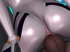 Sexy 3D hentai babe in constricted fitting spacesuit gets banged from behind
