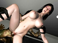 Exercising 3D hottie love tunnel eaten and banged by a monster