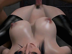 Bigtitted 3D hentai dame screwed in the dungeon