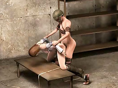 Sexy 3D hentai female captive getting banged by a excited warrior
